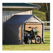 Portable Garage Motorcycle Atv Storage Shed Outdoor Garden Lawn Tractor Shelter