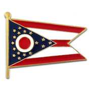 Pinmartand039s Ohio State Burgee Flag Oh Lapel Pin