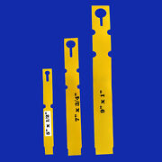 Wrap Around Yellow Plastic Thermal Plant Labels 5 7 9 Nursery Tag Markers