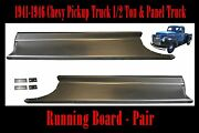 1941 1942 1946 Chevy Pickup Truck And Panel Truck Gmc Steel Running Board Set Pair