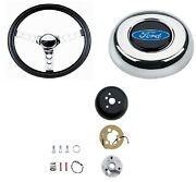 Grant Classic Steering Wheel/installation Kit/chrome Horn Button For F100/f250