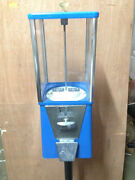 One-way Oak Vista Candy Toy Gumball Vending Machine No Pipe Stand Oldanddirty
