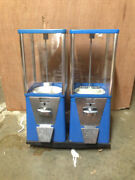 Two-way Oak Vista Candy Toy Gumball Vending Machine No Pipe Stand Oldanddirty