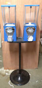 Two-way Oak Vista Candy Toy Gumball Vending Machine No Pipe Stand New Mechs
