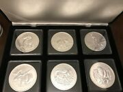 Canada Wildlife Series 5 Bu Silver Coin Set Of 6 In Case 2011 2012 2013 Maple