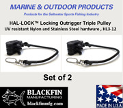Hal-lock Andtrade Hl3-12 Locking Outrigger Triple Pulley Set Of 2 Ships Same Bus. Day