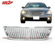 Abs Chrome Front Bumper Hood Vertical Grill Grille Fits 2002-2004 Nissan Altima