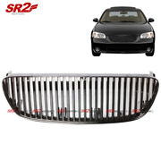 Abs Black Front Bumper Hood Vertical Grill Grille Fits 2002-2003 Nissan Maxima