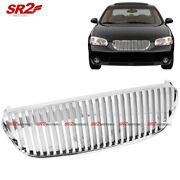 Abs Chrome Front Bumper Hood Vertical Grill Grille Fits 2002-2003 Nissan Maxima