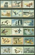 Edw1949sell Usa 1959-2001 Beautiful Collection Of Ducks Cplt Between Rw26-68.