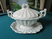 Red Cliff American Ironstone Covered Tureen With Platter 12 X 16 Victorian
