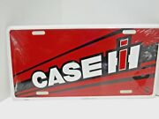 Case Ih Red Angle License Plate