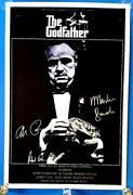 Godfather - Classic Movie Poster 36 X 24 Signed Brando Pacino Duvall