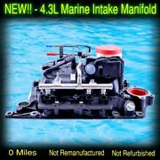 New Complete 2007 And Up Volvo Penta 4.3l Marine Intake Manifold Gen 2 21995253
