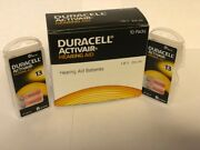 Duracell Activair Mercury Free Hearing Aid Batteries Size 13 16-160 Exp 2024