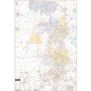 Fayetteville And Bentonville, Ar Wall Map