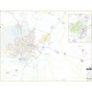 Fayetteville And Cumberland Co, Nc Wall Map
