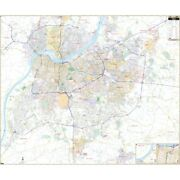 Louisville And Jefferson Co Ky Wall Map