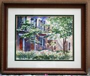 Magnificent Watercolor Painting By Richard Low Evans Summer Afternoon American