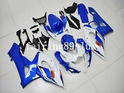 Pearl White Blue Abs Plastic Injection Fairing Kit Fit For 2005 2006 Gsxr1000