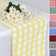 14 X 108 Gingham Checkered Table Runner Wedding Party Dinner Decorations Sale