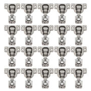 20 Pack Cabinet Door Hardware Compact 1/2 Overlay Face Frame Concealed Hinges