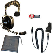 Comet+k-cord+m3-qd High Noise Boom Mic Replacement For Klein K-cord And Qd Radio