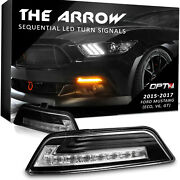 Opt7 Mustang Turn Signal Drl Sequential White Amber Led Oem Replace Pair Clear