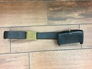 Us Indian War Era Leather Belt N.g.p. Buckle And N.g.p Mckeever Box