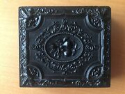 Scarce Old Gutta Percha Daguerreotype Two Pears Double Image Sixth Plate Case