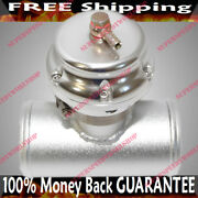 Silver Universal 50mm Emusa Blow Off Valve+3adapter For Toyota Nissan Honda