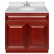 36 Vanity Cabinet Cherryville With Granite Top Cara White And Faucet Lb5b