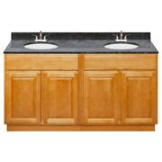 60 Vanity Cabinet Richmond With Granite Top Blue Butterfly And Faucet Lb5b