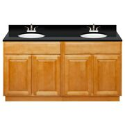 60 Vanity Cabinet Richmond With Granite Top Absolute Black And Faucet Lb5b