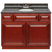 42 Vanity Cabinet Cherryville With Granite Top Tan Brown And Faucet Lb5b