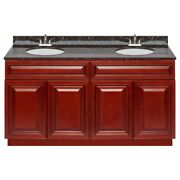 60 Vanity Cabinet Cherryville With Granite Top Tan Brown And Faucet Lb5b