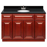 48 Vanity Cabinet Cherryville With Granite Top Absolute Black And Faucet Lb5b