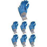 Atlas 305 Xtra Deep Dipped Blue Natural Rubber Coating Small Gloves, 24-pairs