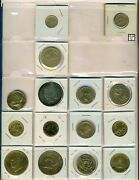 Lot Of 15 Canadian And Usa Gold Plated Coins Ooak