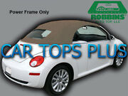 2003-11 Volkswagen Beetle Convertible Top And Heated Glass Tan Stayfast Cloth