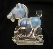 Imperial Heisey By Fenton French Opalescent Glass Hca 87 Oscar Sparky Plug Horse