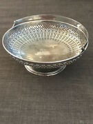 Antique Sterling Silver Co Reticulated Pierced Swing Handle Fruit Basket