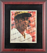Pirates Roberto Clemente Best Wishes Signed And Framed 8x11 Magazine Page Jsa