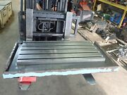 47 X 25.5 X 3.25 Steel Weld 5 T-slot Table Cast Iron Layout Plate Fixture