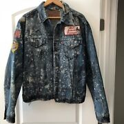 👀vintage Leviand039s Jean Jacket Numbered Extremely Rare One Of A Kind Patches