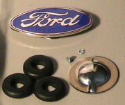 1928-1929 Model A Ford Radiator Shell Dress-up Set With Emblem Lacing Etc.