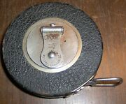 Wind Up 25and039 Foot Metal Tape Measure Keuffel And Esser Co Round Measuring Okeh Kande