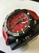 Victorinox Swiss Army Red Dive Master 500 Watch 241422 Red Strap New On Sale
