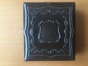 Scarce Gutta Pecha Ambrotype Shield With Stripes Double Sixth Plate Case
