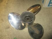 New Johnson Evinrude Outboard Stainless Steel Propeller 0777029 13 7/8 X 17 Lh